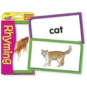 Trend Enterprises® Rhyming Pocket Flash Cards, Grades Kindergarten - 2nd