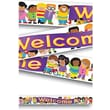 Trend Enterprises® Pre Kindergarten - 2nd Grades Banner, Welcome Trend Kids