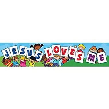 Trend Enterprises® Pre-kindergarten - 3rd Grades Banner, Jesus Loves Me