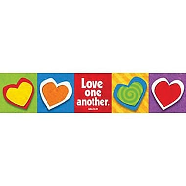 Trend Enterprises® Kindergarten - 9th Grades Banner, Love One ANother