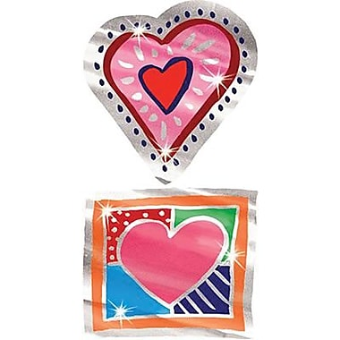 Trend Enterprises® Applause Stickers, Shiny Hearts