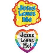 Trend Enterprises® Foil Bright Stickers, Jesus Loves Me