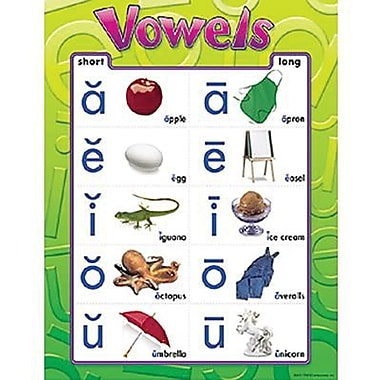 Trend Enterprises® Vowels Learning Chart