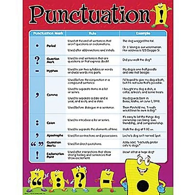 Trend Enterprises® Punctuation Learning Chart