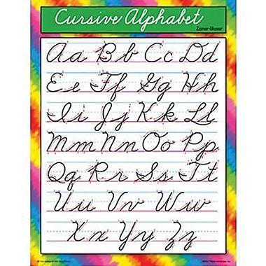 Trend Enterprises® Zaner-Bloser Cursive Alphabet Learning Chart