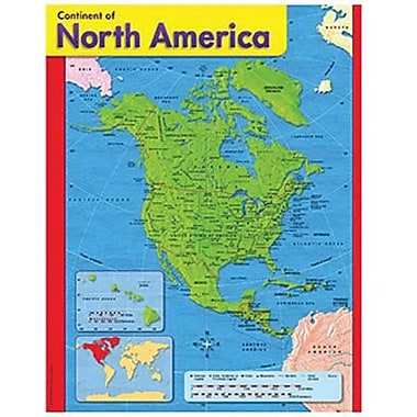 Trend Enterprises® Continent of North America Learning Chart