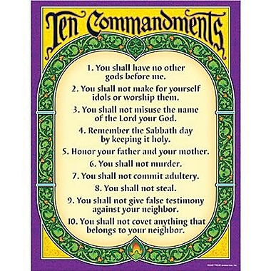Trend Enterprises® Ten Commandments Learning Chart