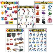 Trend Enterprises® Learning Charts Combo Packs Kindergarten Basic Skills