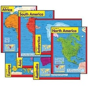 Trend Enterprises® Continents Learning Chart, Combo Pack