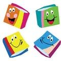 Trend Enterprises® SuperShapes Stickers, Happy Books