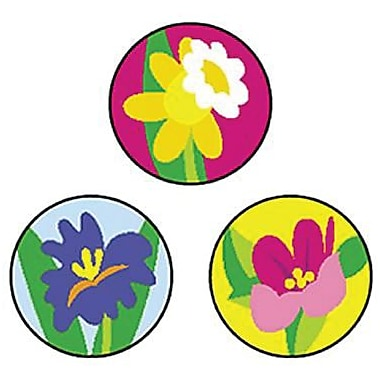 Trend Enterprises® SuperSpots® Stickers, Spring Flowers
