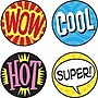 Trend Enterprises® SuperSpots® Stickers, Wow Words