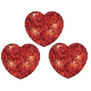 Trend Enterprises® SuperSpots® Sparkle Stickers, Red Hearts