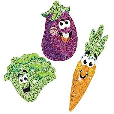 Trend Enterprises® Sparkle Stickers, Veggie Friends