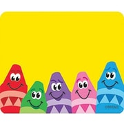 Trend Enterprises® pre-kindergarten - 3rd Grades Name Tag, Colorful Crayons