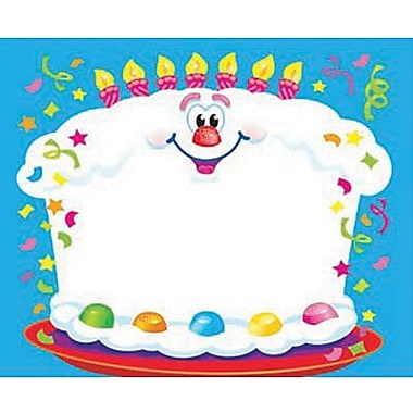 Trend Enterprises® pre-kindergarten - 9th Grades Name Tag, Happy Birthday