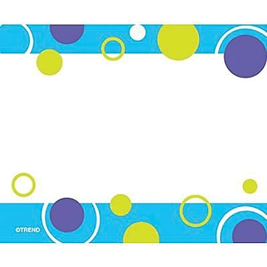 Trend Enterprises® pre-kindergarten - 9th Grades Name Tag, Blue Fizz