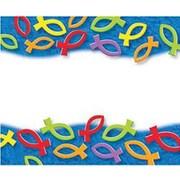 Trend Enterprises® pre-kindergarten - 9th Grades Name Tag, Christian Fish