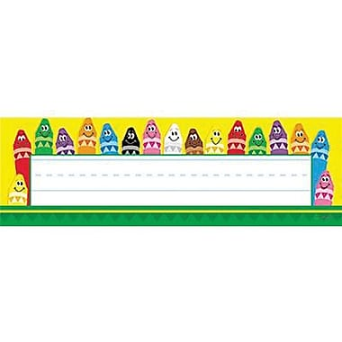 Desk Toppers® pre-kindergarten - 3rd Grades Name Plate, Colorful Crayons