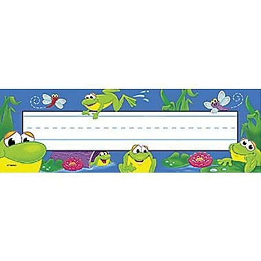 Desk Toppers® Pre Kindergarten - 3rd Grades Name Plate, Frog Pond