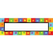 Desk Toppers® Kindergarten - 4th Grades Name Plate, Silly Squares