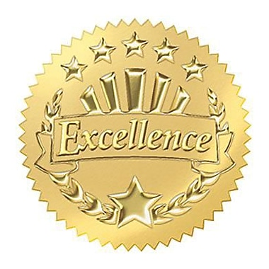 Trend Enterprises® Award Seals Stickers, Excellence, Gold