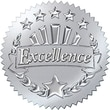 Trend Enterprises® Award Seals Stickers, Excellence, Silver