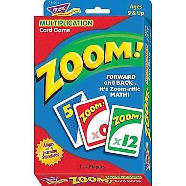 Trend Enterprises® Zoom! Card Game, Multiplication