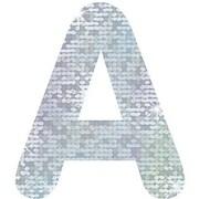 """Trend Enterprises® STICK-EZE® Stick-On Letter/Number/Marks, 1"""", Silver Sparkle"""