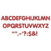 """Trend Enterprises® STICK-EZE® Stick-On Letter/Marks, 2"""", Red Sparkle"""
