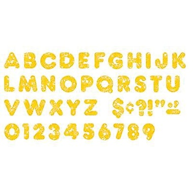 Trend Enterprises® Ready Uppercase Letter, 3in., Sparkle Glitter, Yellow