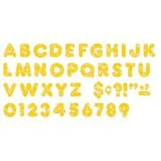 Trend Enterprises® Ready Uppercase Letter, 3, Sparkle Glitter, Yellow