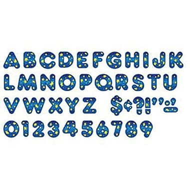 Trend Enterprises® Casual Ready Letter, 4in., Star Bright Blue