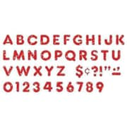 "Trend Enterprises® Ready Casual Uppercase Letter, 2"", Red Sparkle"