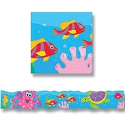 "TREND T-85025 35.75' x 3"" Wavy Under The Sea Bolder Border, Multicolor"