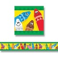 Trend Enterprises® Pre Kindergarten - 9th Grades Bulletin Board Border, Colorful Crayons
