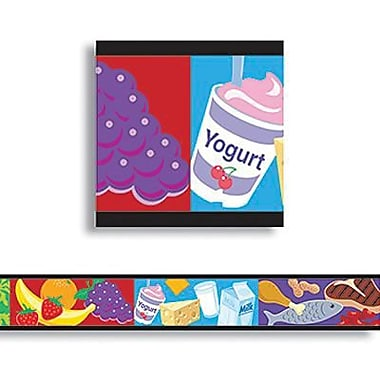 Trend Enterprises® Pre Kindergarten - 9th Grades Bulletin Board Border, My Food Pyramid