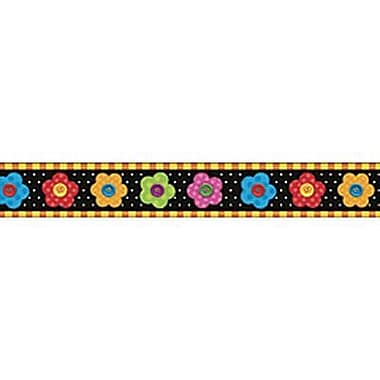 Trend Enterprises® pre-kindergarten - 9th Grades Bulletin Board Border, Colorful Button Flowers