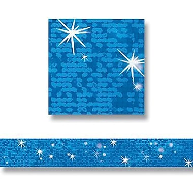 Trend Enterprises® pre-kindergarten - 9th Grades Bulletin Board Border, Blue Sparkle
