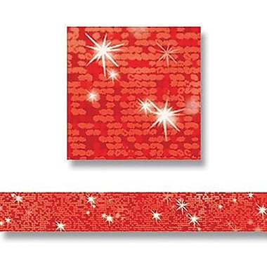 Trend Enterprises® pre-kindergarten - 9th Grades Bolder Border, Red Sparkle