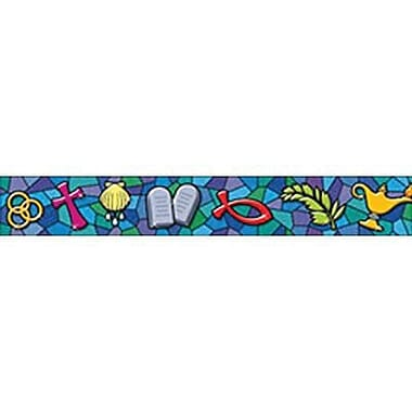 Trend Enterprises® pre-kindergarten - 9th Grades Bulletin Board Border, Christian Symbols