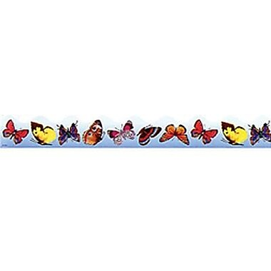 Trend Enterprises® Kindergarten - 5th Grades Scalloped Terrific Trimmer, Butterflies