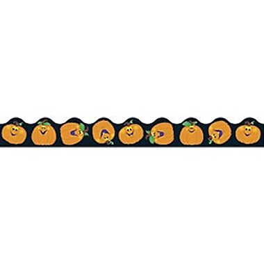 Trend Enterprises® Pre-Kindergarten - 5th Grades Scalloped Terrific Trimmer, Pumpkin Pals