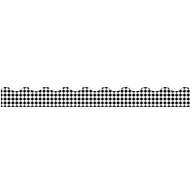 Trend Enterprises® Pre-kindergarten - 9th Grades Scalloped Terrific Trimmer, Black Gingham