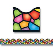 "TREND T-92136 39' x 2.25"" Scalloped Stained Glass Terrific Trimmers, Multicolor"