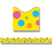 "TREND T-92159 39' x 2.25"" Scalloped Dots Terrific Trimmer, Spotted Yellow"