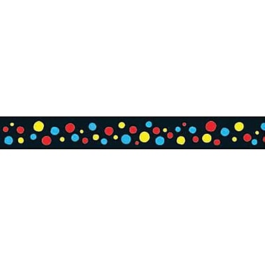 Trend Enterprises® Pre-Kindergarten - 9th Grades Scalloped Bulletin Board Trim, Spotted Black