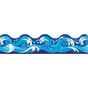 Trend Enterprises® Pre-Kindergarten - 9th Grades Scalloped Terrific Trimmer, Water Waves