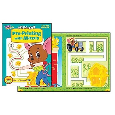 Trend Enterprises® Pre-Printing With Mazes Wipe-Off Book