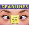 Trend Enterprises® ARGUS® Poster, Deadlines Are closer